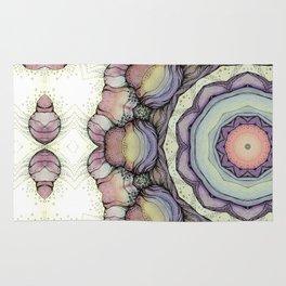 Abstract flowers mandala Rug