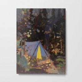 Tom Thomson Campfire 1916 Canadian Landscape Artist Metal Print