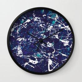 Blue Ocean Splatter Wall Clock