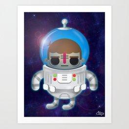 Astronaut Boy Art Print
