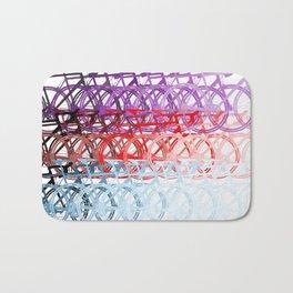 Bicycles palette Bath Mat