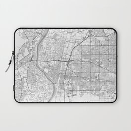 Albuquerque Map Line Laptop Sleeve