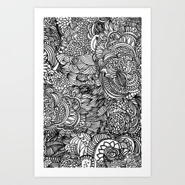 Cocoons and seeds Art Print