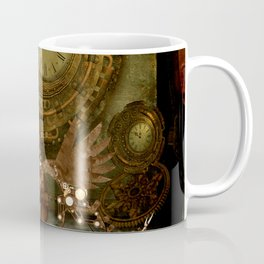 Steampunk, steampunk women with dragon Coffee Mug