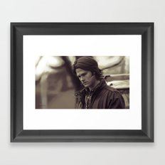 The Boy With the Demon Blood Framed Art Print