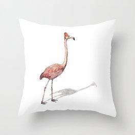 Fez Hat Flamingo Throw Pillow