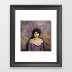 THE MOST BEAUTIFUL WOMAN Framed Art Print