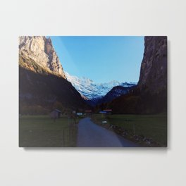 Swiss Alps Path Metal Print
