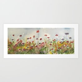 Edging the Garden Art Print