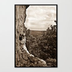 Lighting over Miller cave Canvas Print