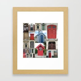 New Zealand Doors Framed Art Print