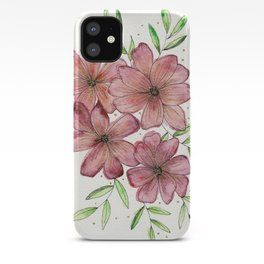 Pink and Gold Bouquet iPhone Case