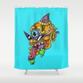 slimy cyclops Shower Curtain
