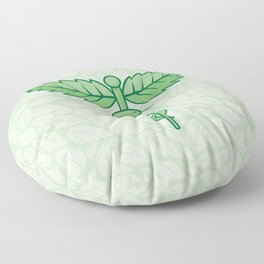 Caduceus with leaves Floor Pillow