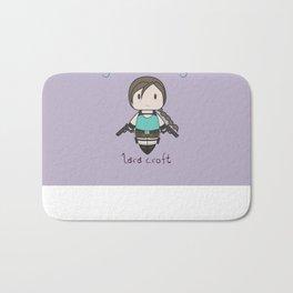 Fight Like a Girl - Lara Croft ~ Tomb Raider Bath Mat