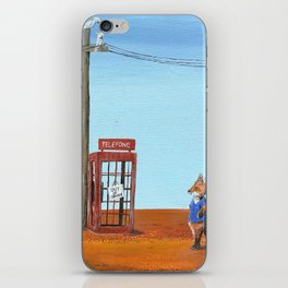 The Out of Service Phone Box iPhone Skin