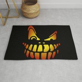 Pumpkin Face - Dark Rug