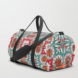 Seamless Floral Pattern Ornamental Tile Design : 7 Duffle Bag