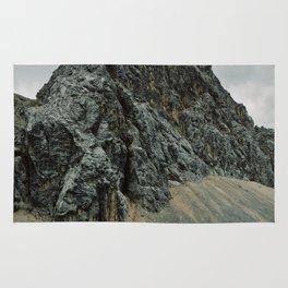 Dark rocky mountain Rug