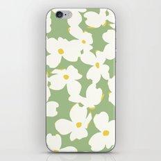 Dogwood Floral: Sage/Green iPhone & iPod Skin