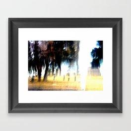 Ghost Forest Framed Art Print
