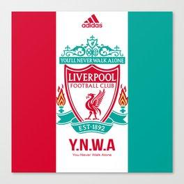 Liverpool Flat Design Canvas Print