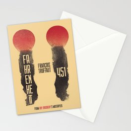 Fahrenheit 451, François Truffaut, french movie, british film, Ray Bradbury,  dystopian novel, book Stationery Cards