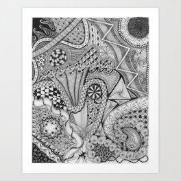 Zentangle®-Inspired Art - ZIA 25 Art Print