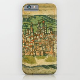 Map Of Mombasa 1572 iPhone Case