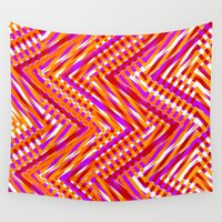 chevron Wall Tapestries featuring Chevron  by Aimee St Hill