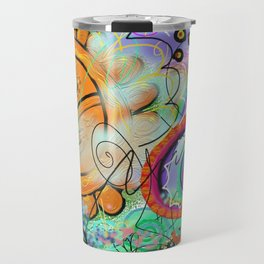 Taino Echoes - Puerto Rico Tribal Ethnic Art Travel Mug