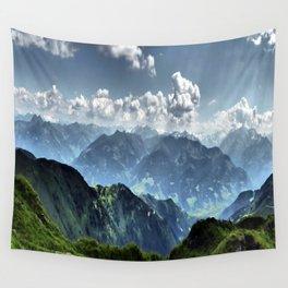 Mountain Peaks in Austria Wall Tapestry
