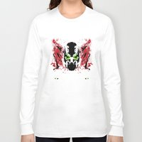 spawn Long Sleeve T-shirts featuring Rorschach Spawn | Textured by Normal-Sized Deet
