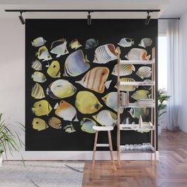 Butterflyfish_Black base Wall Mural