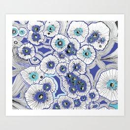 Drop Flowers Art Print