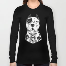 American Pitbull Tattooed Long Sleeve T-shirt