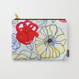 Flower Doodles Carry-All Pouch