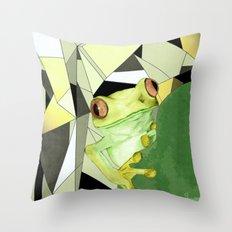 Tree Frog. Throw Pillow