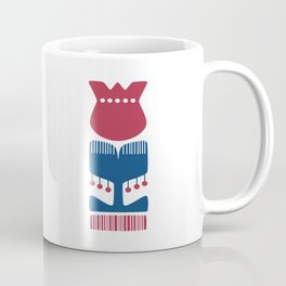 Nordic Red Flower Coffee Mug