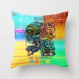 Mysticx & Magick: The Japanese Elemental Gods - Art Cover Throw Pillow