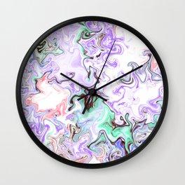 A Messy Abstract Wall Clock