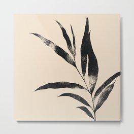 Olive Branch 02 - Ink & Buttercream Metal Print
