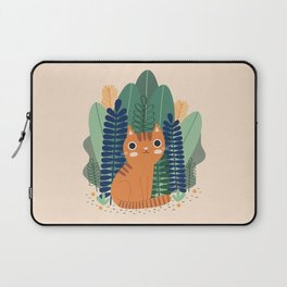 Orange Garden Cat Laptop Sleeve