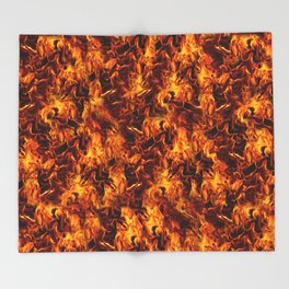 Fire and Flames Pattern Throw Blanket