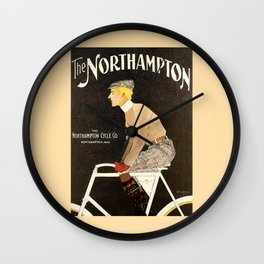 The Northampton Bicycle co. by Edward Penfield Wall Clock