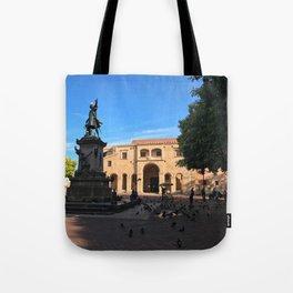 Plaza Colón in Santo Domingo Tote Bag