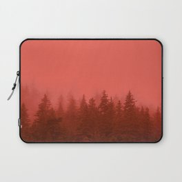 0388 Chocolate Forest with Living_Coral Fog, AK Laptop Sleeve