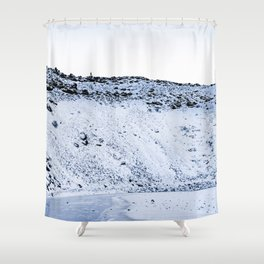 Kerid Crater In Winter, Iceland Shower Curtain