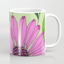 Echinacea on Pistachio Coffee Mug