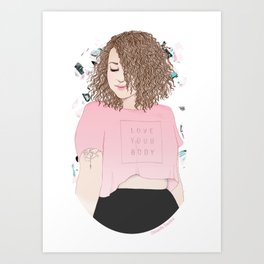 Love your body Art Print
